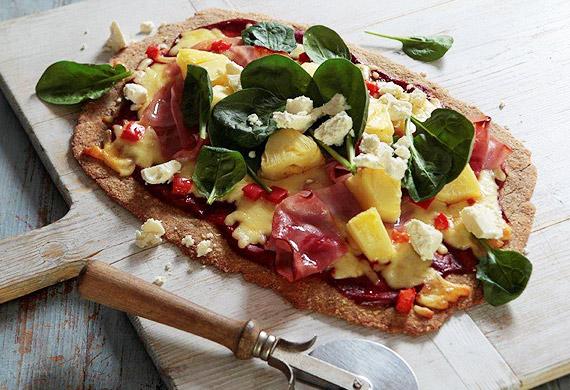 Polynesian pineapple pizza