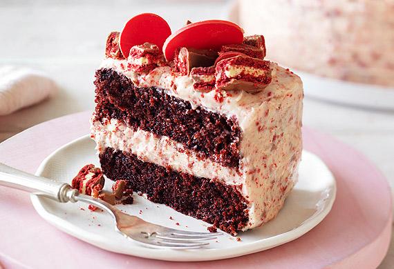 Red velvet Tim Tam cake