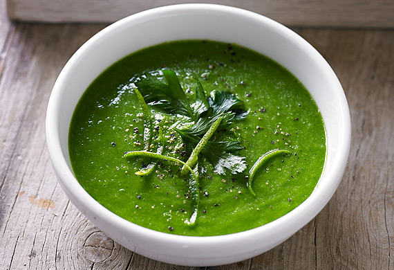 Scotty Gooding's kale and avocado soup