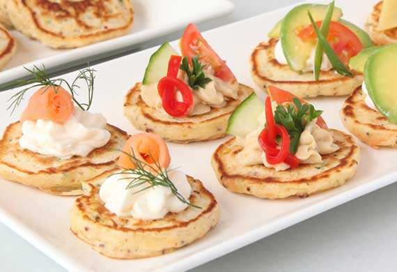 Savoury vegetable pikelets