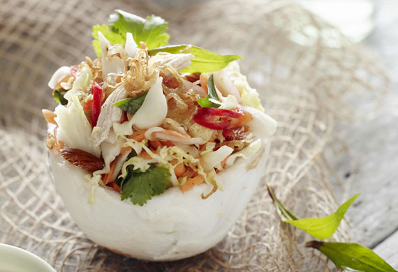 Pete Evans' young coconut chicken salad