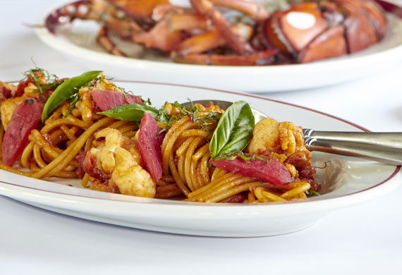 Ananas' lobster spaghetti