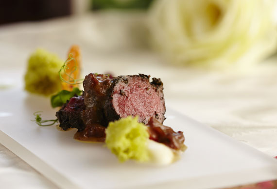 Moroccan mint green tea lamb loin