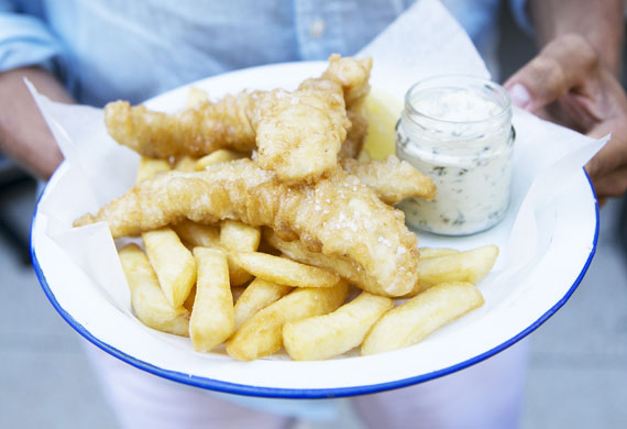 The Fish Shop's beer-battered fish and chips