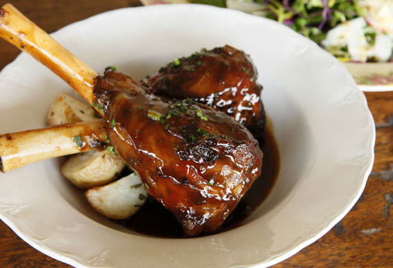 Italian slow roasted lamb shanks