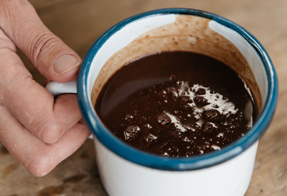Liliana Battle's Italian hot chocolate
