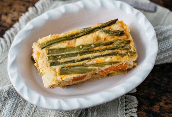 Zucchini and sweet potato vegetable slice