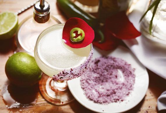Rosa Picante Margarita (spicy Margarita)