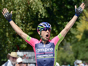 Diego Ulissi won the second stage of the Tour Down Under (AAP)
