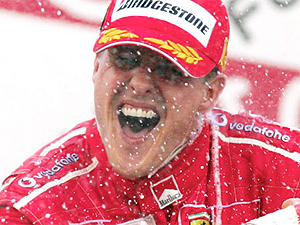 Michael Schumacher. (Getty)