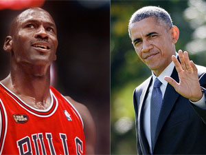 Michael Jordan and Barack Obama. (AAP)