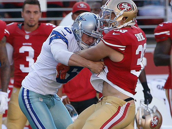 Jarryd Hayne playing for the San Francisco 49ers.