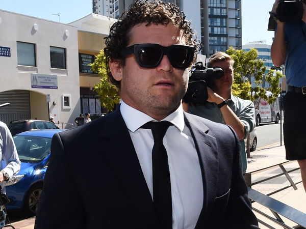 Beau Falloon enters court for his drug case hearing. (AAP)