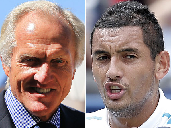 Greg Norman and Nick Kyrgios. (AAP)