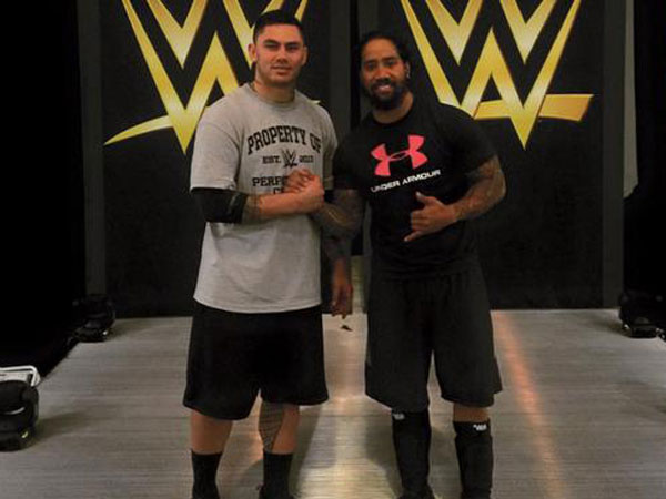 Daniel Vidot at the WWE Performance Center. (Facebook)