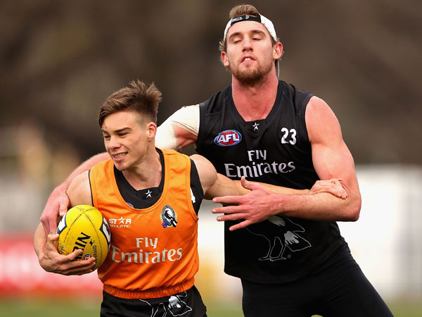 Josh Thomas and Lachie Keeffe. (Getty)