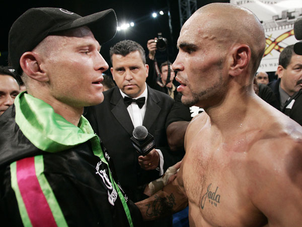 Danny Green and Anthony Mundine. (AAP)