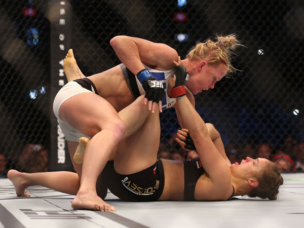 Holly Holm has defeated Ronda Rousey. (Getty)