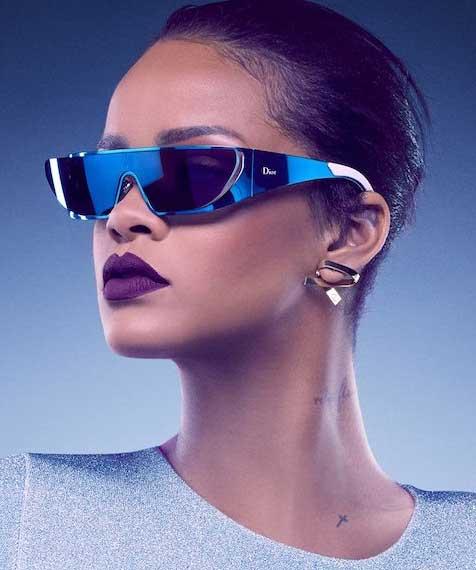 Rihanna throws some shade for Dior