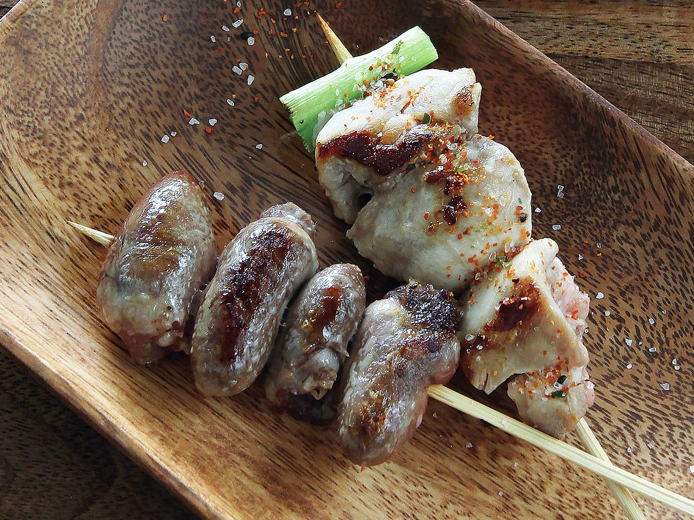 Barbecued chicken yakitori