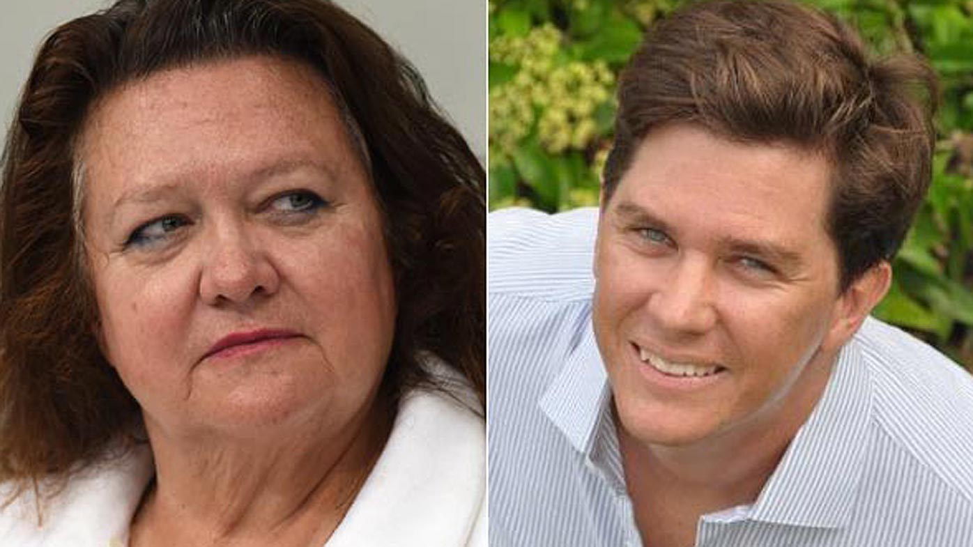 Gina Rinehart and John Hancock