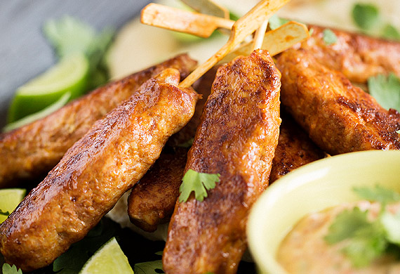 Marion Grasby's chicken kebabs