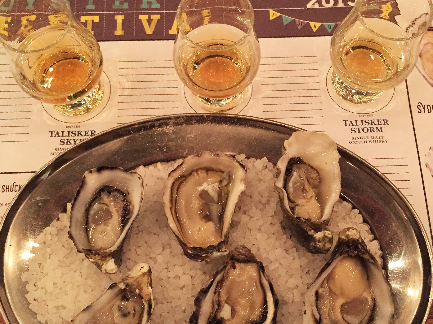 Oysters and whisky, a match made in ... a bar