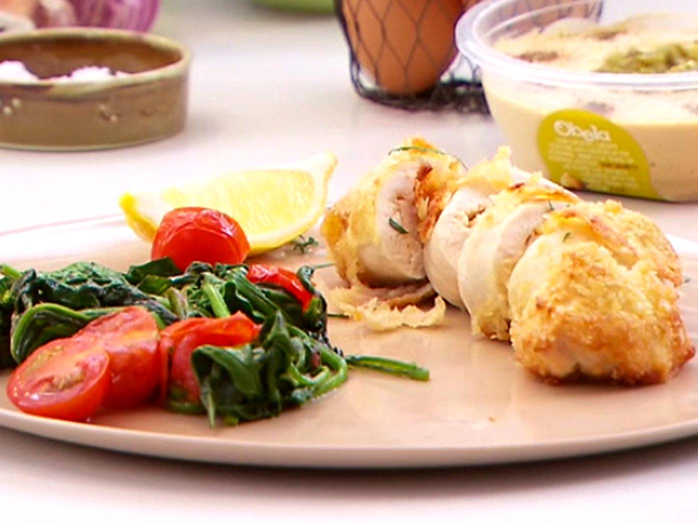 Jack Gunston's hommus-stuffed chicken breast