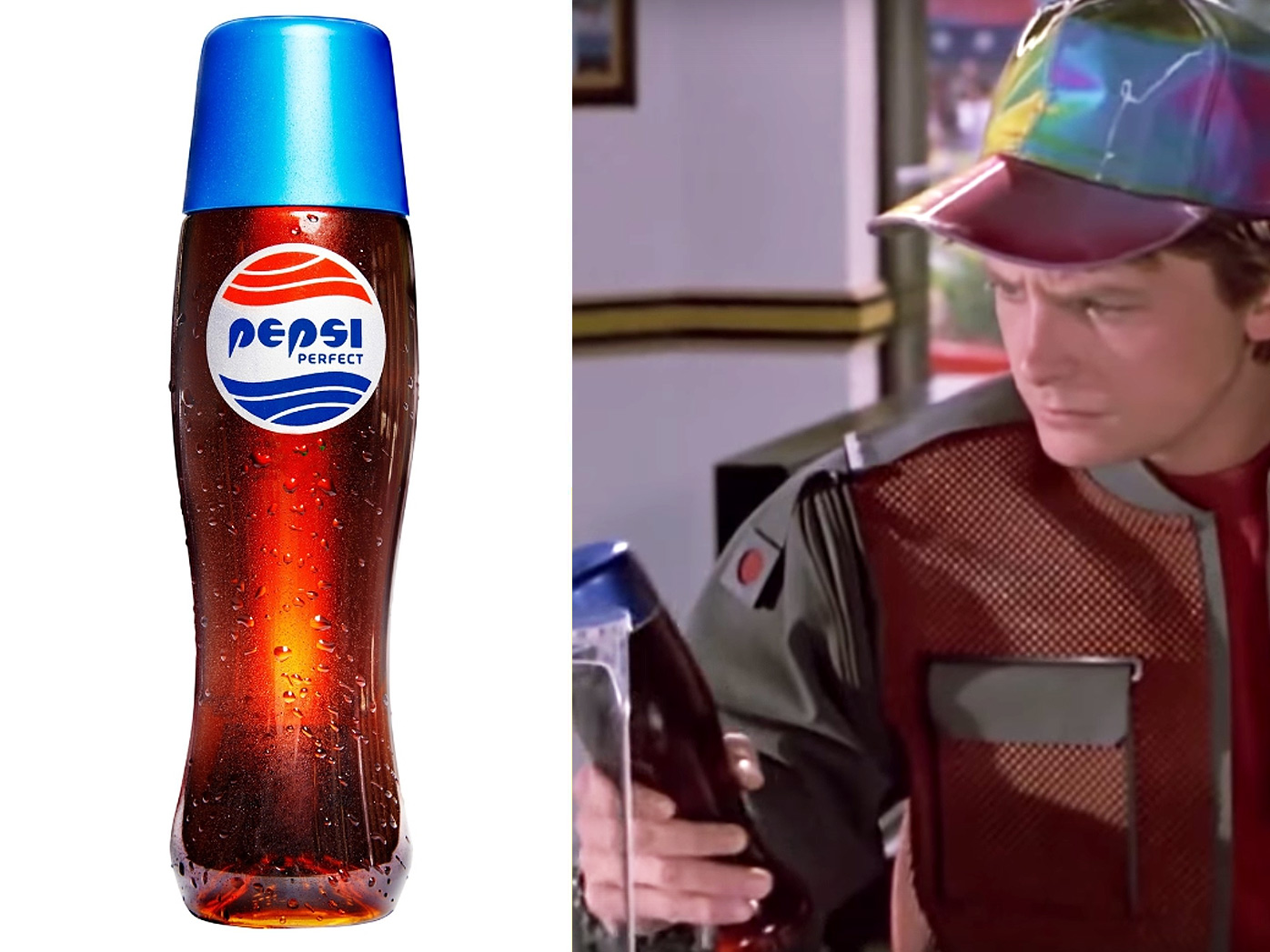 Pepsi Perfect bottle, Michael J Fox as Marty McFly in Back to the Future II