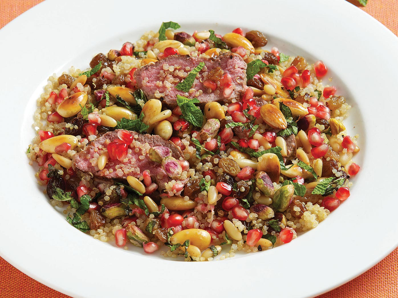 Rena Patten's lamb with quinoa and nuts