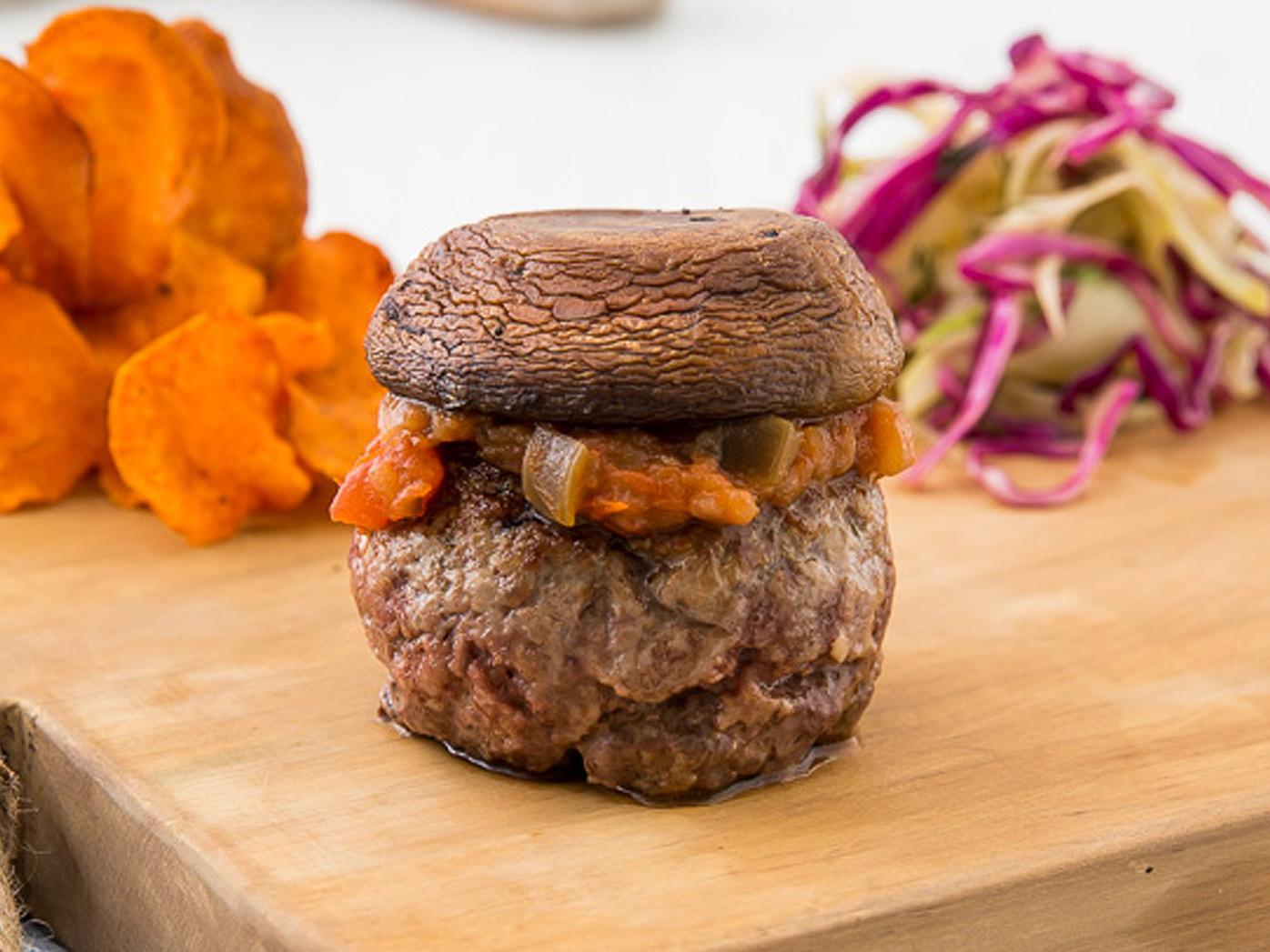 George Calombaris' bunless lamb burger