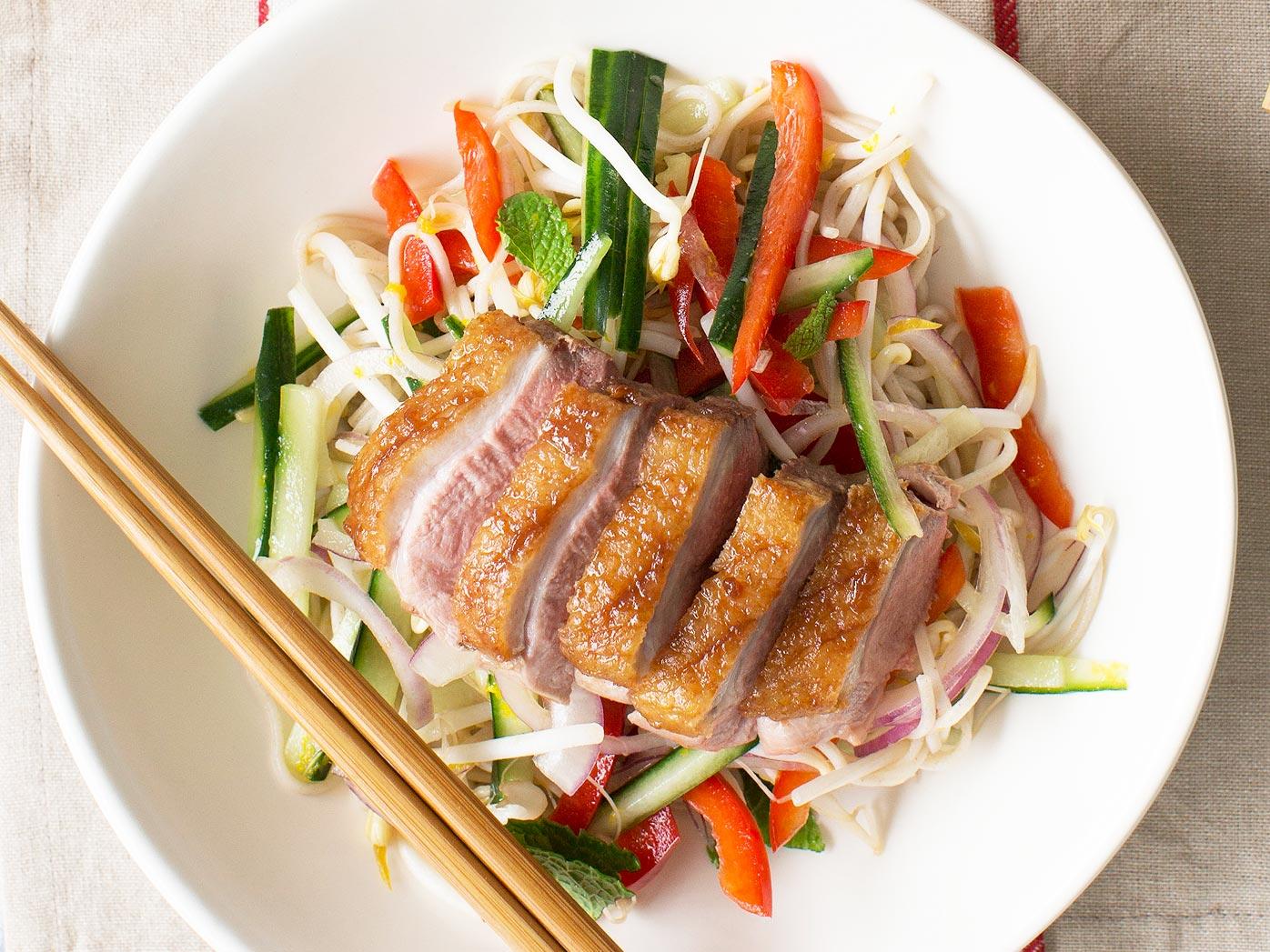 Nadia Lim's hoisin duck and soba noodle salad