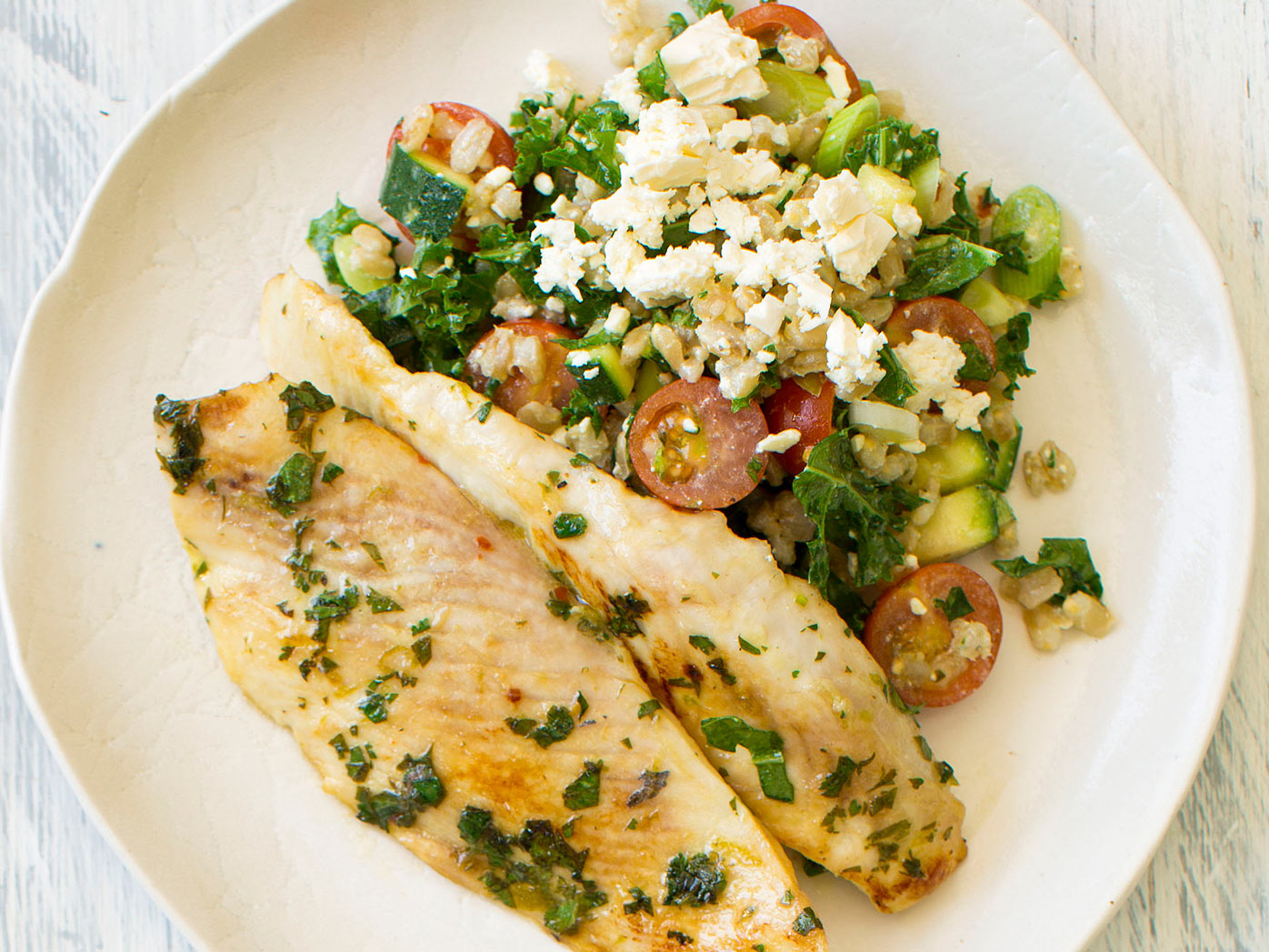 Nadia Lim's lime and coriander grilled fish
