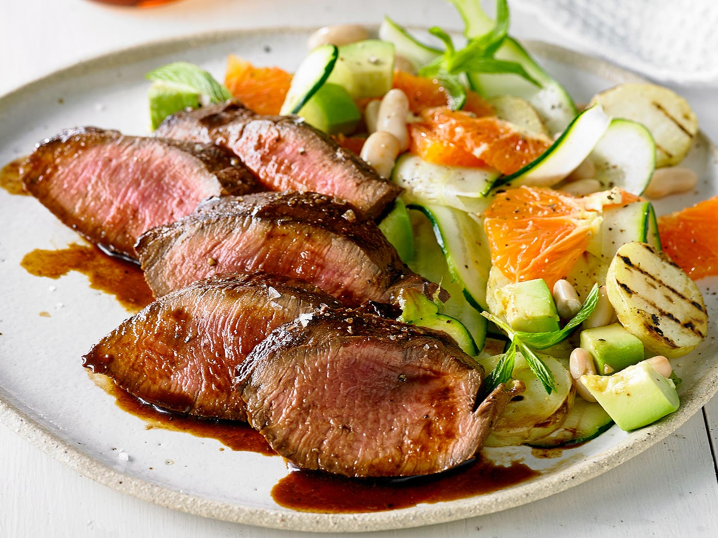 Peruvian-style flank steak with salad