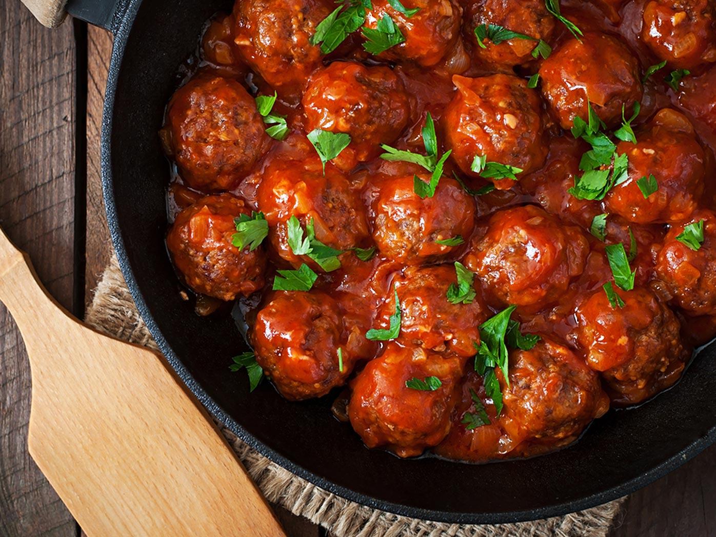 Barbecue Wagyu beef meatballs