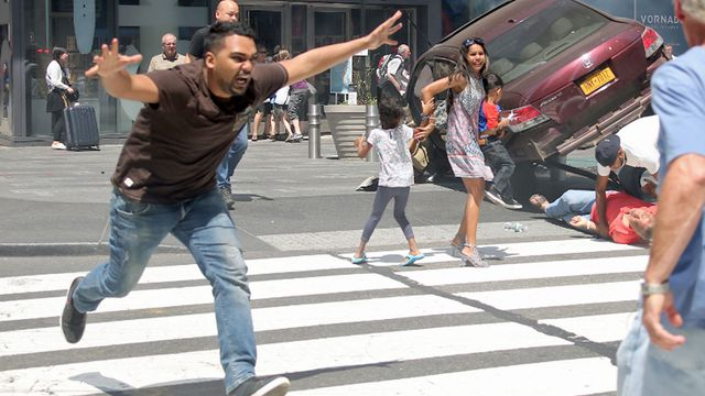 New York City Times Square rampage in pictures