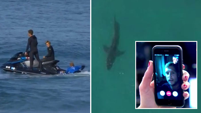 Fanning says he's 'all good' after second J-Bay shark encounter