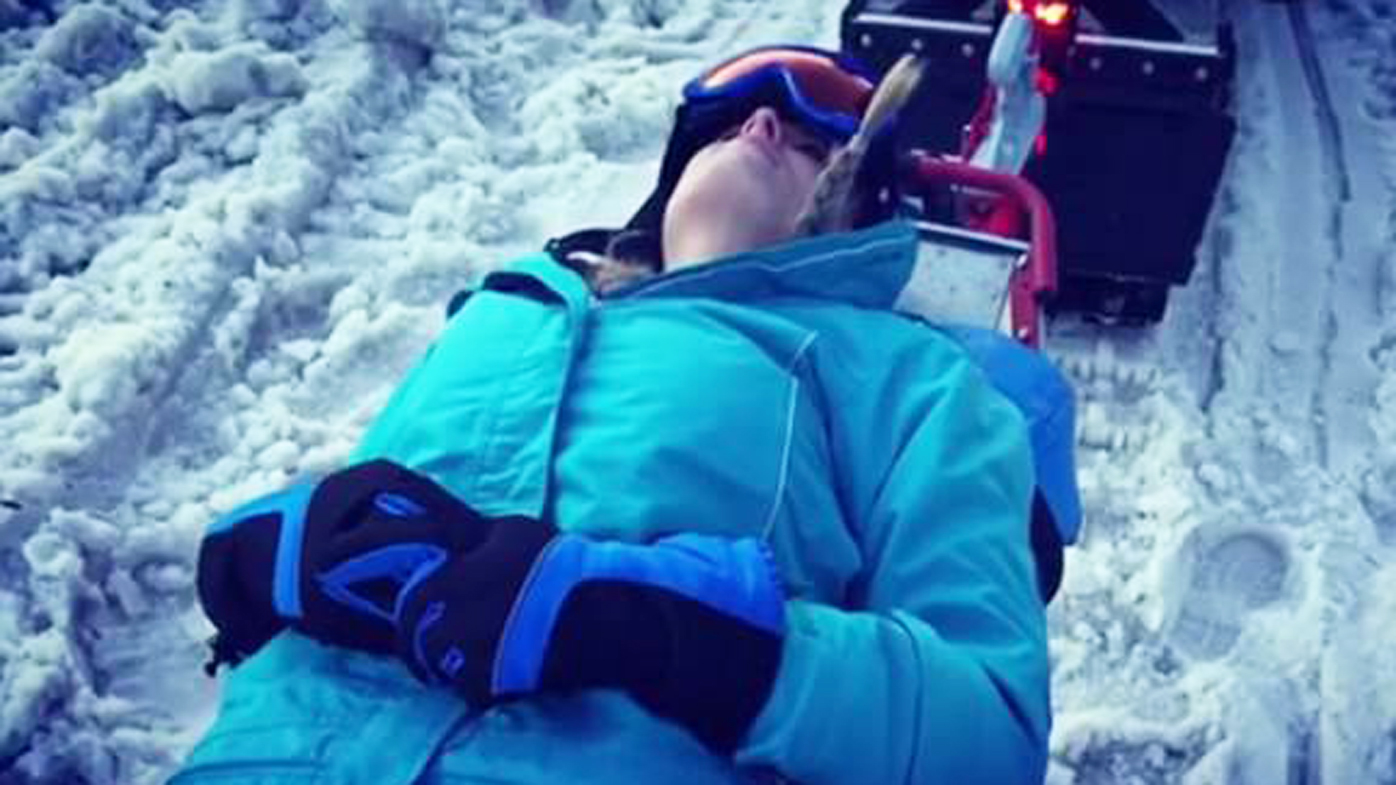 Injured while skiing in Snowy Mountains
