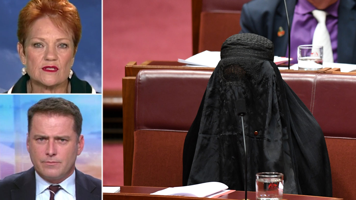 Tells Karl she felt 'terrible' peering through $87 veil