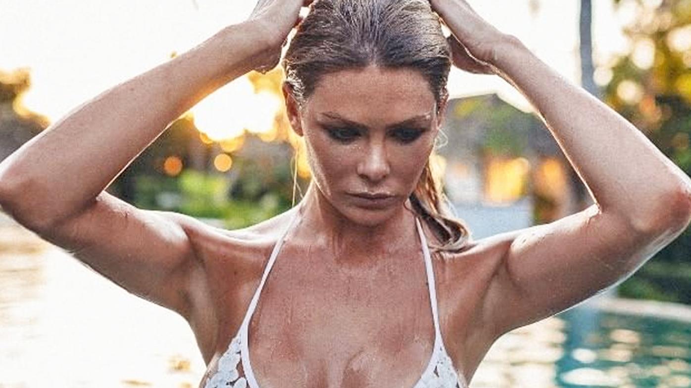 Underboob in Bali pool
