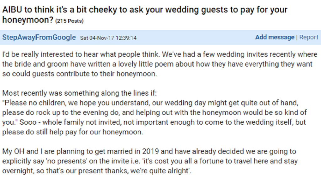Poetic Wedding Invite Offends Guests In Just Two Lines