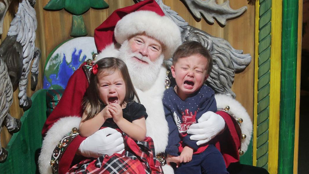 'The Santa photo is wearing pretty thin and I've had enough'