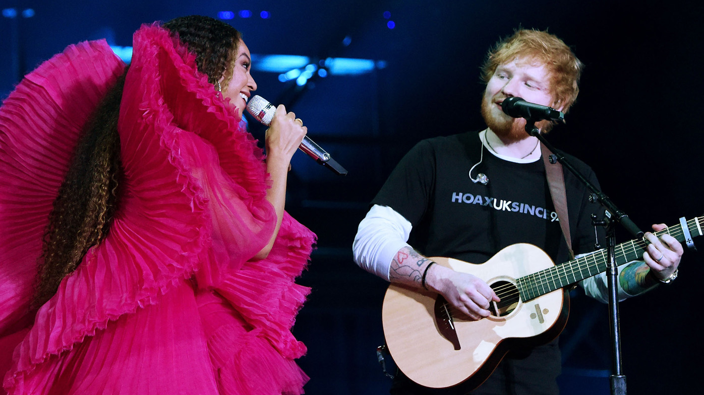 Ed Sheeran responds to 'angry' trolls who said he was underdressed for Beyoncé duet