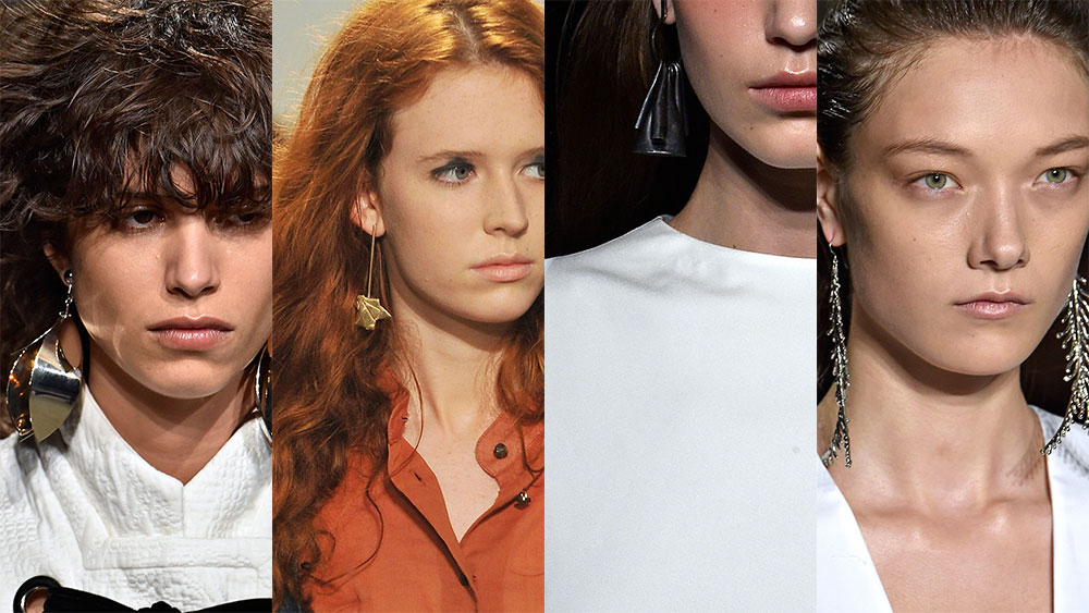 Straight-from-the-runway statement earrings.