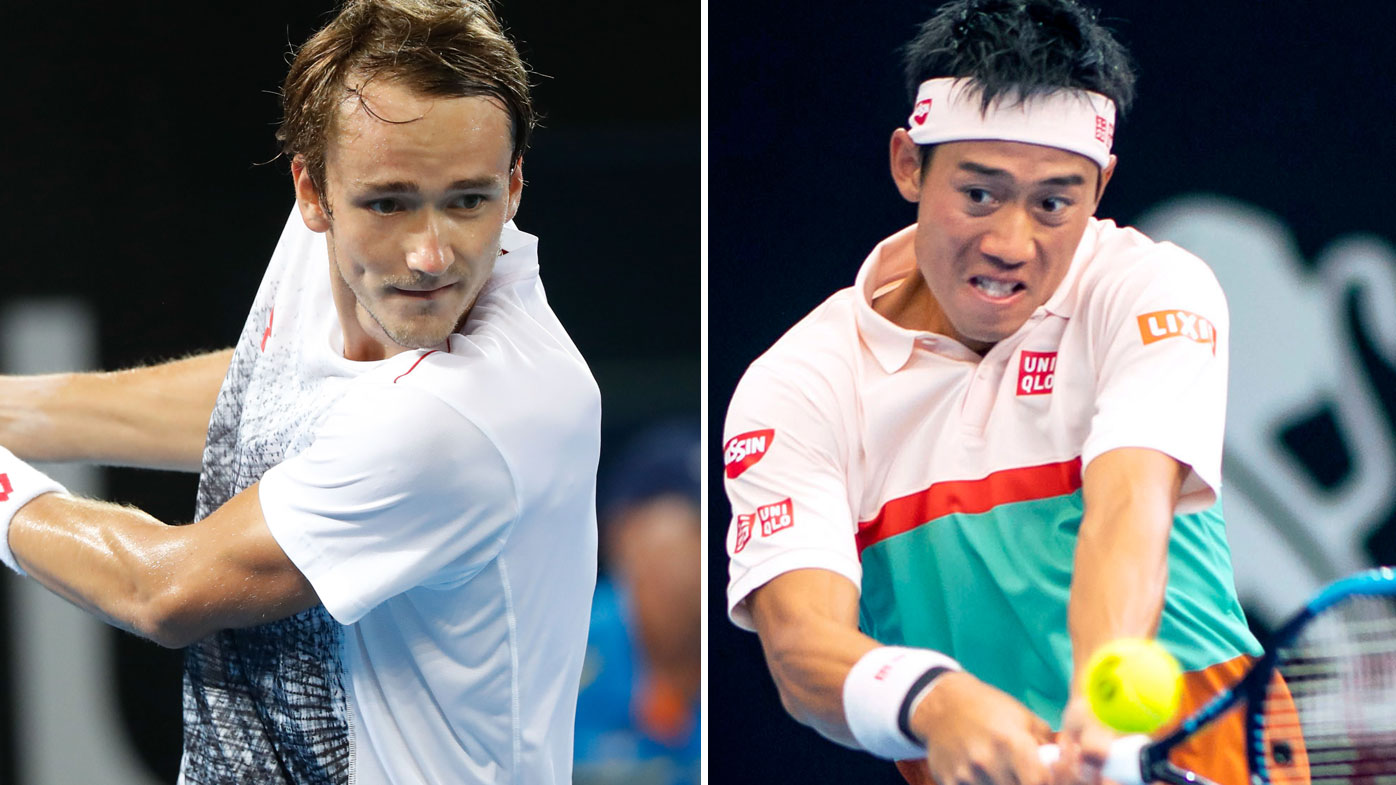 Medvedev faces Nishikori