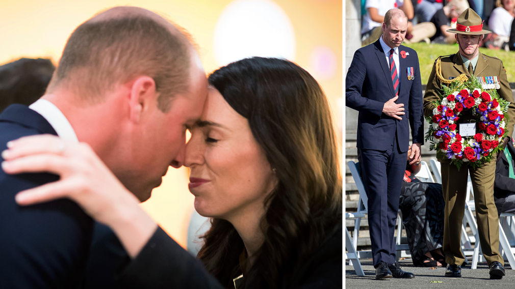 Prince William pays his respects in New Zealand