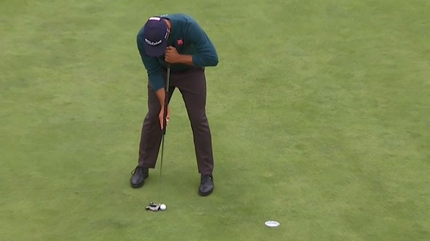 Adam Scott had some regrettable misses with the putter