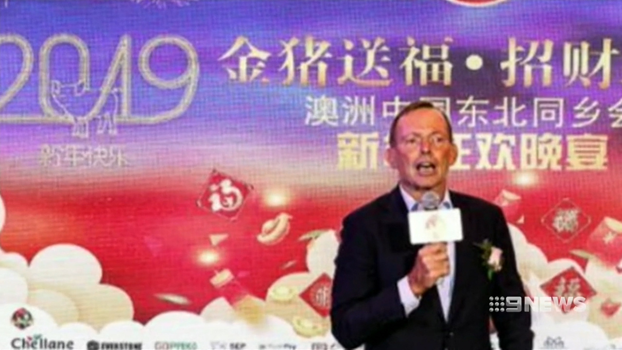 Tony Abbott attended dinner linked to Chinese government