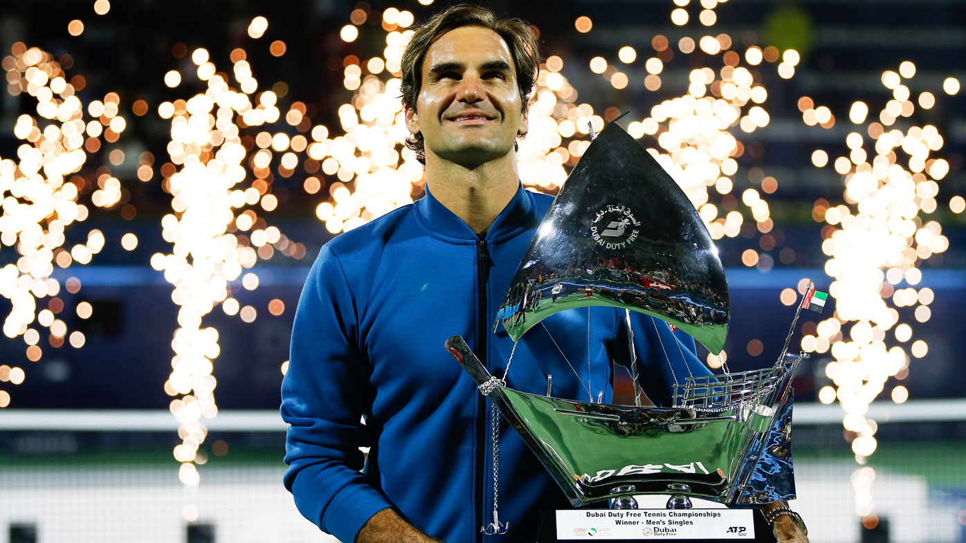 Federer hits 100 career wins with Dubai crown