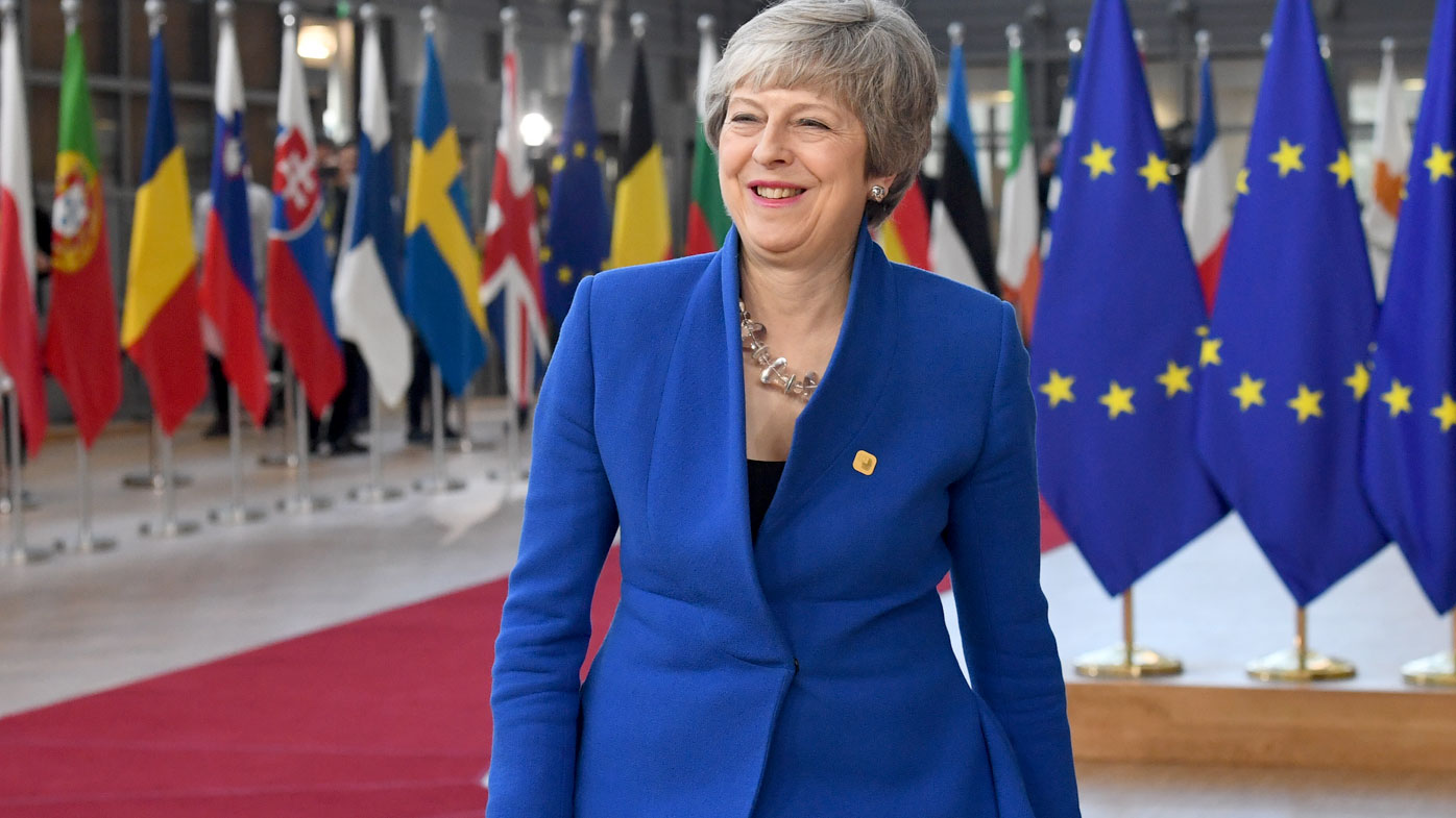 May arrives in Brussels for emergency summit to beg for Brexit delay